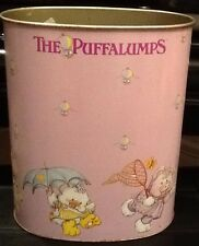 Vintage 1980s Puffalumps Garbage Can Waste Basket Oval Fisher Price *Read Desc*