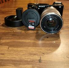 Sony Alpha α6000 24.3MP Digital SLR Camera - Black (Kit with 18-55mm...