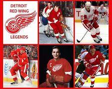 detroit red wings legends 8x10 photo hockey picture nhl gordie howe