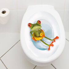 "WANDKINGS WC Aufkleber Sticker ""Frosch Rettungsring"" Badezimmer Toilette Bad"