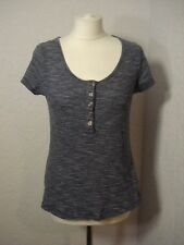 Mantaray navy blue/white striped jersey & lace top 14