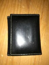 Cole Haan Small Leather Black Photo Wallet Trifold Magnetic Closure