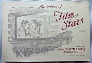 FILM STARS CIGARETTE CARDS ALBUM, THIRD SERIES, JOHN PLAYER - FULL SET