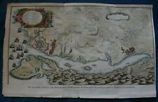 Plan of the Town and Harbour of Mahon original print published 1755
