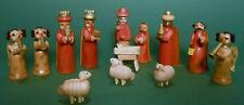 13 Figuren Krippe aus Holz Figuren Christi Geburt Krippenfiguren 5,5 cm lasiert