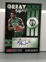 2020-21 Panini NBA Hoops AARON NESMITH RC AUTO Great Significance Boston Celtics