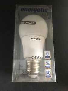 Energetic LED 4w Lamp Bulb Economy 250 Lumen Bulb Warm White B22 Edison Screw