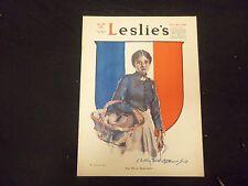 1918 DECEMBER 28 LESLIE'S WEEKLY MAGAZINE- PEACE FILLS THE MARKET BASKET-ST 2229