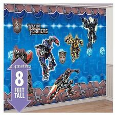 Transformers 8 Foot by 12 foot party  Wall Decorating Mural Kit