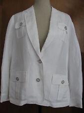 Calvin Klein women's white linen/rayon detailed blazer size 14W new