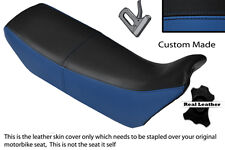 Black & royal blue custom fits honda nx 650 dominator 89-91 double housse de selle