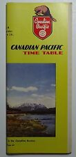 Canadian Pacific Railway 1952 Public System Timetable   9-28-52