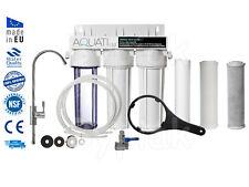 Luxury 3 Stage Under Sink Ceramic Water Purifier Dechlorinator Filter Kit New