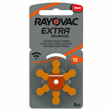 Rayovac Extra Advanced 13 1,45V Batterie Acustiche Zinco Aria - 6 Pezzi (04606467416)