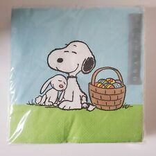 New Snoopy & Woodstock Peanuts Easter Egg Graphique 40 Pack 3-ply Napkins 6.5""