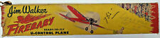 FIREBABY Jim Walker A-J Plane Vintage U Control Line Balsa Model Airplane Kit
