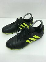 MENS ADIDAS NITROCHARGE 3.0 BLACK YELLOW LEATHER FOOTBALL BOOTS TRAINERS UK 5