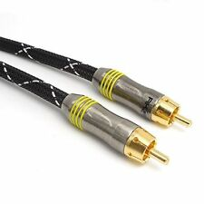 2 Metre RCA DIGITAL COAXIAL AUDIO SPDIF CABLE FOR SURROUND SOUND / DOLBY / DTS