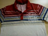 Mens Fitted Short Sleeve Polo Shirt Size M