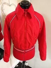 Retro Vintage Ski Bomber Jacket 1970s 1980s - Red - Innsbruck UK Medium (12-14)