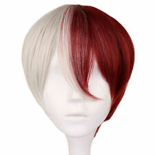 My Hero Academia Boku no Hiro Shoto Todoroki Shouto Cosplay Hair Wig + Cap