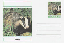 CINDERELLA - 3975 - ANIMALS - BADGER  on Fantasy Postal Stationery card