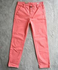 New Womens ALLSAINTS Chino Trousers Smart Coral Pink Tapered leg Size UK 8 W28