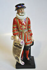 """Rare! Royal Doulton Porcelain Figurine Standing Beefeater - 1924-1938 - 7 3/4""""H"""