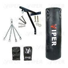 4ft Boxing Punch Bag Set Gloves Bracket Chains Filled MMA  Martial Arts MuayThai