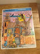 Rainbow Works Frame Tray Puzzle Haunted House #75901-5 VGC