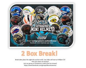 New York Giants- Gold Rush! (2 box) Autographed Mini Helmet Live Break (#357)