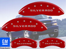 "2011-2017 Chevy ""SIlverado"" 2500 HD Front Rear Red MGP Brake Disc Caliper Covers"