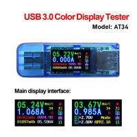USB3.0 Vollfarb LCD Tester Display Tester Spannung Strom Power Temp Meter