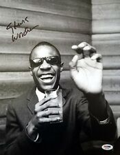 STEVIE WONDER SIGNED 11x14 PHOTO I JUST CALLED TO SAY I LOVE YOU RARE PSA/DNA