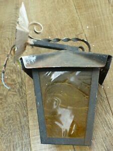 vintage antique traditional old reclaimed outdoor glass porch wall light