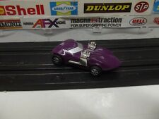 TYCO / MATTEL HOT WHEELS PURPLE TWIN-MILL HO SLOT CAR With 440-X2 CHASSIS