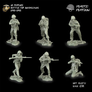 Plastic Platoon Toy Soldier US Marines Battle For Guadancanal 1942-1943 New 2021