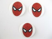 12 PRE CUT EDIBLE RICE WAFER PAPER CARD SPIDERMAN SUPERHERO CUPCAKE TOPPERS