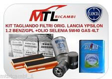 KIT TAGLIANDO FILTRI ORIG. LANCIA YPSILON 1.2 BENZ/GPL +OLIO SELENIA 5W40GAS 4LT