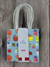 """Gift Paper Bags Gift Bags Small Colorful 5"""" Birthday 6 pack Choose One"""
