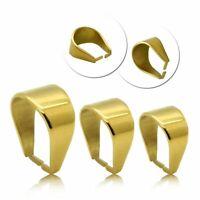 Anhängerösen Edelstahl Anhänger Kettenanhänger Golden Collierschlaufe Verbinder