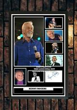 More details for (364) kenny rogers country music signed photograph framed unframed reprint