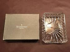 Waterford Signed Westover Pattern Notepad Holder Clear Lead Crystal - WITH BOX