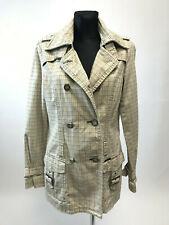 KHUJO Women's Beige Double Breasted Cotton Coat Size M