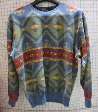 RaRe 90's Polo Ralph Lauren Vintage Navajo Beacon Blanket Crew Sweat Shirt M EUC