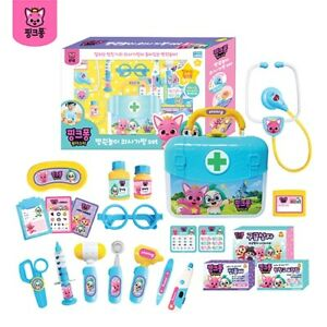 (Pinkfong) Pink Pong Hospital Play Doctor's Bag Set Stethoscope and Doctor's Bag