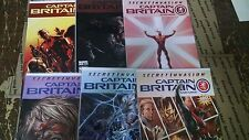 from Avengers Comic lot Captain Britain 1-6 nm bagged boarded