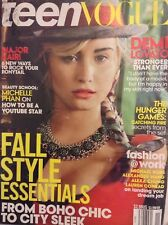Teen Vogue Magazine Demi Lovato Fall Style November 2013 SEALED 101717nonrh
