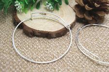 6pcs of Silver Adjustable Bangle Bracelets, Basic Bracelet, Bangle  65mm
