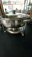Stainless Steel 3.5 Quart 13 inch Diameter Chafing Dish with Glass Cover